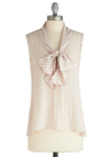 Sea Shell Sleuth Top - Mid-length, Cream, Tan / Cream, Print, Sleeveless
