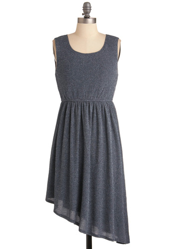 Moonlight Up My Life Dress - Blue, Sheath / Shift, Casual, Sleeveless, Short