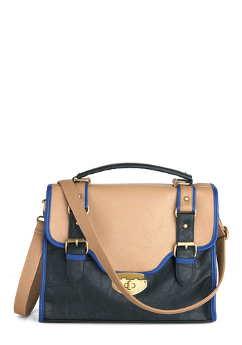 Under the Noir Bag - Black, Multi, Blue, Tan / Cream, Buckles, Pockets, Work, Casual