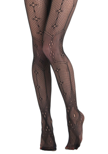 Instant Antique Tights - Black, Crochet, Sheer