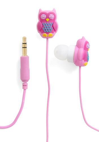 Hoot and Holler Earbuds by Decor Craft Inc. - Owls, Multi, Orange, Pink, Pastel, Quirky, Travel
