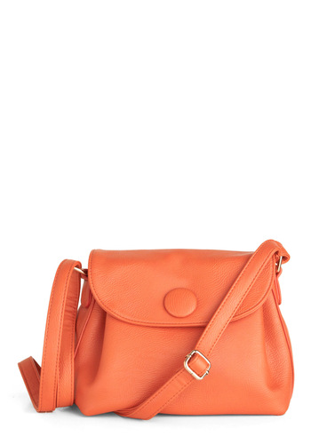 Color Burst Shoulder Bag - Orange, Solid
