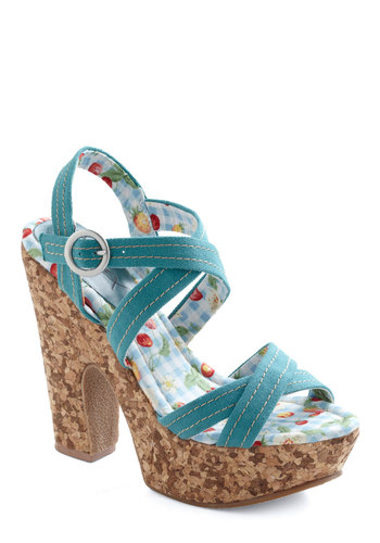 Sunny Skies Wedge - Blue, Party, Summer, Fruits, Wedge
