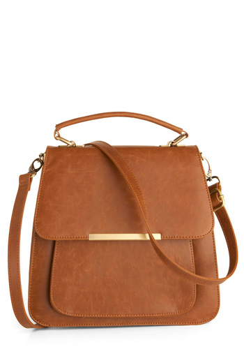 Mahogany Muse Bag - Brown, Solid, Work, Vintage Inspired, Faux Leather, Press Placement
