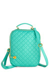 Tech on Your Trek Backpack - Green, Solid, Quilted, Mint, Travel, Work, Scholastic/Collegiate
