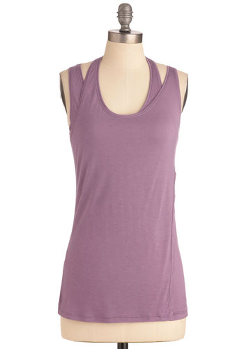 Going Beyond the Basics Top - Mid-length, Casual, Urban, Purple, Solid, Tank top (2 thick straps)