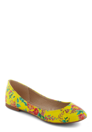 Perennial Favorite Flats - Multi, Pink, Floral, Casual, Yellow, Green