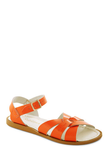 Outer Bank on It Sandal in Orange by Salt Water Sandals - Casual, Orange, Solid, Summer