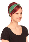 Luck of the Stylish Headband - Green, Multi, Floral, Casual, Travel
