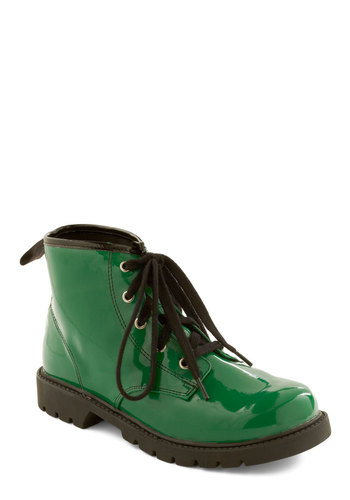 Love Forever-green Boots - Green, Black, Casual, Vintage Inspired, 80s, Solid