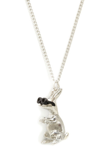 Cool Customer Necklace by And Mary - Silver, Black