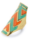 Next Big Zig Ring - Gold, Statement, Orange, Green, Print