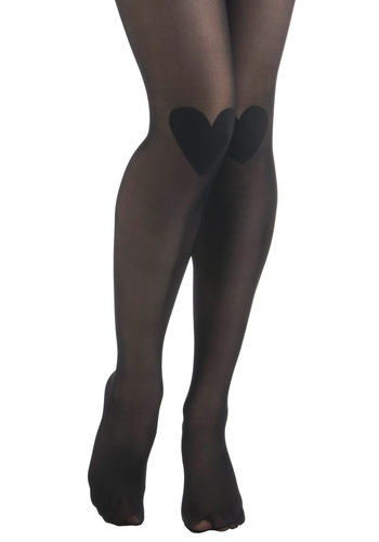 Knee-d Your Lovin' Tights by Sneaky Fox - Black, Solid