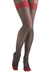 Hearts Go On Top Tights - Black, Red, Party