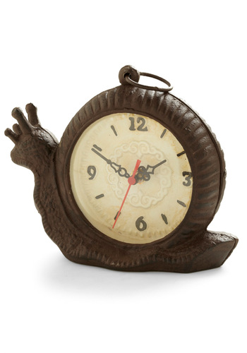 Slow and Tell Clock - Dorm Decor, Brown, Tan / Cream