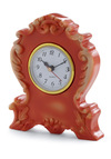 Its Never Too Ornate Clock in Orange - Orange, Dorm Decor, Solid