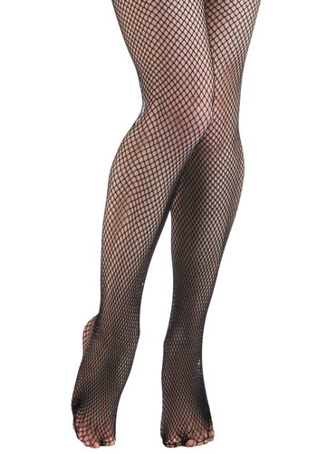 Seam and Mesh 20s Style Tights