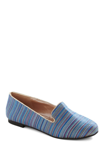 Carnival Lights Flats - Blue, Multi, Multi, Stripes, Casual, Menswear Inspired