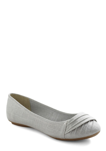 Yoga Session Flat - Grey, Solid, Pleats, Casual, Urban