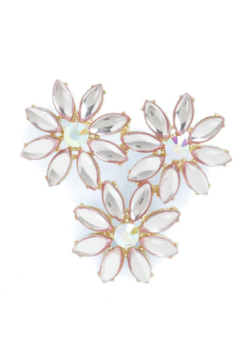 Dazzling Daisy Pin - Gold, Solid, Rhinestones, Prom, Pink, Special Occasion, Wedding