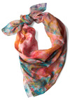 Color Process Scarf - Casual, Boho, Multi, Green, Blue, Print, Pink