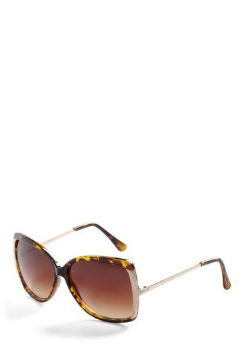 Glint of Glamour Sunglasses - Black, Multi, Brown, Silver, Solid