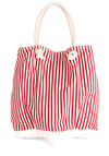 Beach Celeb Bag - Stripes, Red, White, Casual, Nautical, Summer, Travel