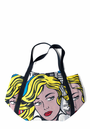 Comic Stylings Bag - Casual, Statement, Multi, Novelty Print, Trim, Yellow, Black