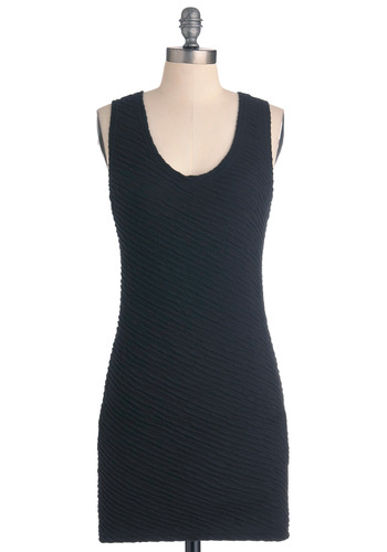 Orion's Svelte Dress - Short, Black, Mini, Solid, Party, Shift, Sleeveless, Girls Night Out, Cocktail, Bodycon / Bandage