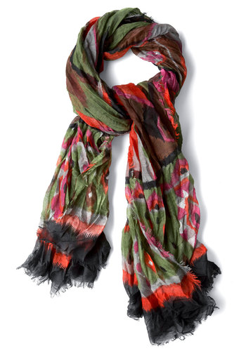 Poppy Into My Dreams Scarf - Casual, Multi, Multi, Print