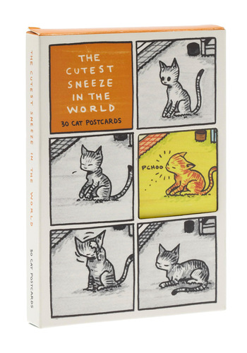 The Cutest Sneeze in the World: 30 Cat Postcards by Chronicle Books - Multi, Print with Animals, Cats