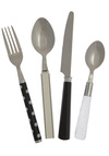 Mix & Munch Flatware Set in Monochrome by Present Time - Multi, Dorm Decor