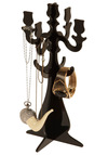 Candid Candelabra Jewelry Stand - Black, Dorm Decor