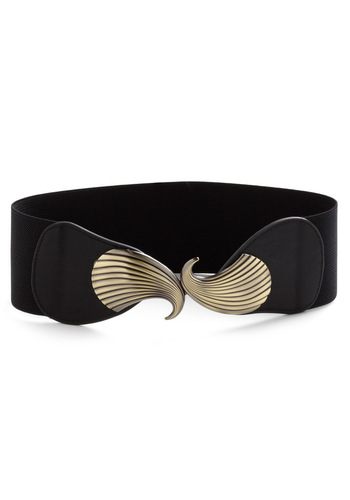 Come Out of Your Seashell Belt - Black, Gold, Casual, Nautical