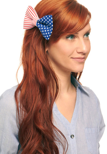 It's in the Flag Hair Clip - Casual, Statement, Multi, Red, Blue, White
