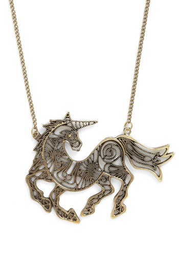 Prance Party Necklace - Gold, Solid