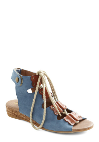 Blarney Scone Sandal by Wörishofer - Blue, Brown, Studs, Casual, Boho