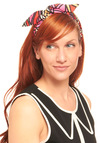 Twist on the Ordinary Headband - Casual, Folk Art, Multi, Print, Red, Orange, Yellow, Pink, Black, White