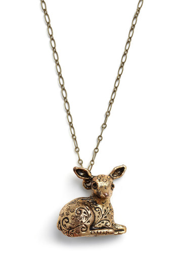 Doe So Deer Necklace - Copper, Casual, Spring, Summer