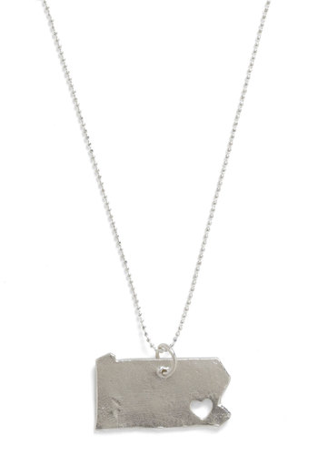 Land That I Love Necklace in Pennsylvania - Silver, Casual
