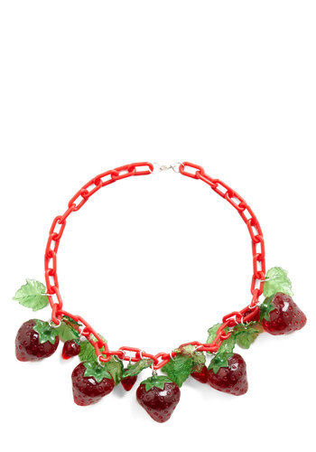 Panache in the Patch Necklace - Red, Green, Fruits
