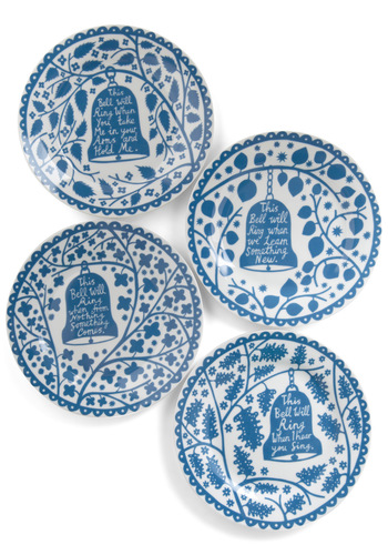 Rings True Plate Set - Blue, White