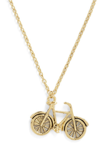 As You Bike It Necklace - Gold, Chain