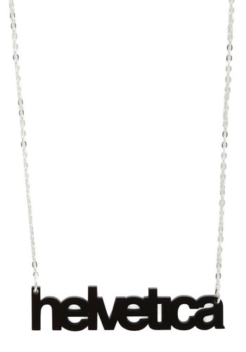 Font-tastic Necklace by Plastique - Black, Multi, Silver, Statement, Urban, Steampunk