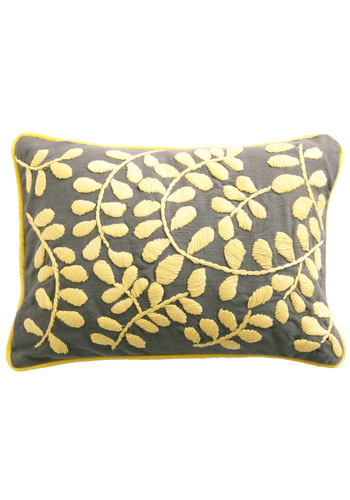 A Day in the Sunroom Pillow by Karma Living - Yellow, Grey, Dorm Decor