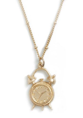 The Time is Nigh Necklace - Gold