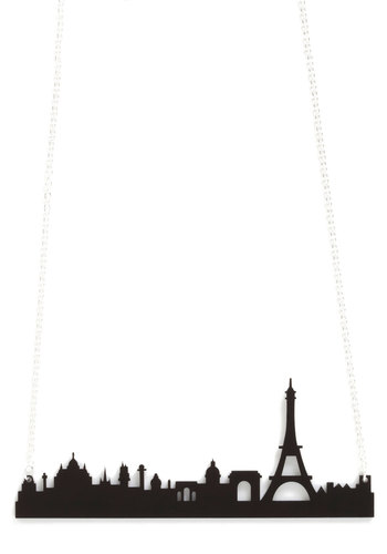 Cities We Love Necklace in Paris by Plastique - Black, Cutout, Steampunk