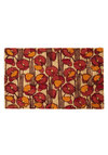 Just Poppy In Doormat - Red, Orange, Tan / Cream, Floral, Holiday Sale, Mid-Century