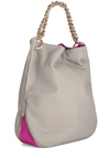Home Sweet Hoboken Bag - Grey, Pink, Gold, Chain