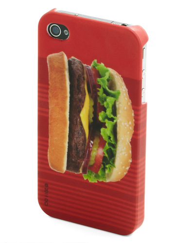Rating Royalty iPhone Case in Burger by Decor Craft Inc. - Red, Multi